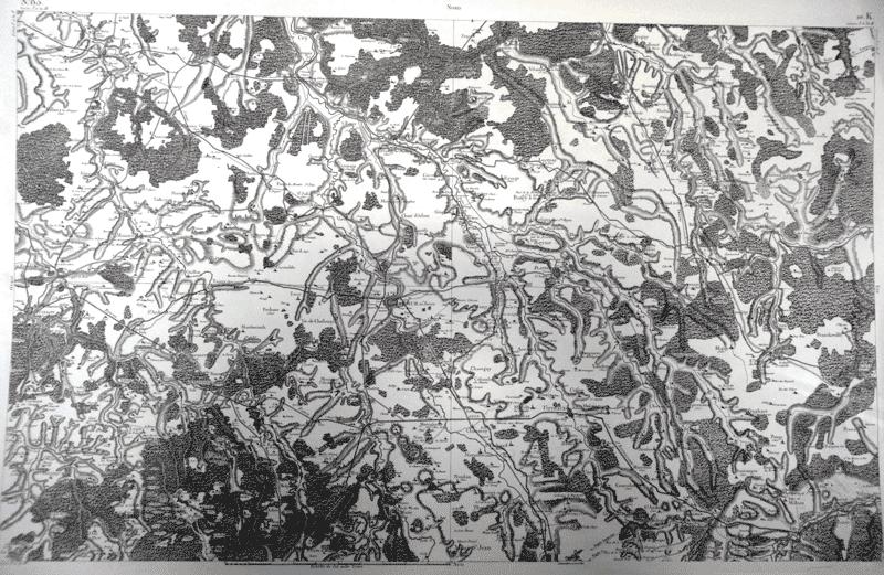 Carte de Cassini Fontaine/Montsauche